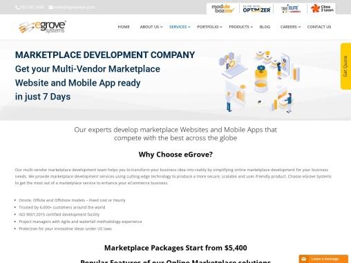 Marketplace mobile app development