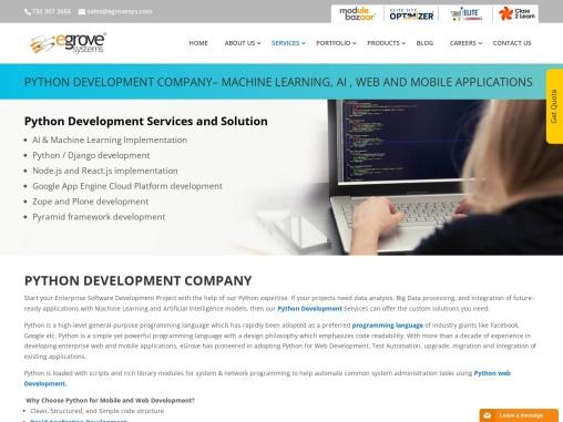 Python Development Company – Machine Learning and Web Applications