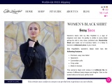Exquisite Black Shirt for Women