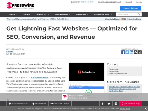 Get Lightning Fast Websites — Optimized for SEO, Conversion, and Revenue