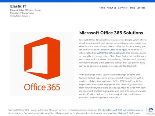 Microsoft Office 365 Support India – Elastic IT