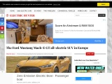 The new Ford Mustang Mach-E electric SUV in Europe