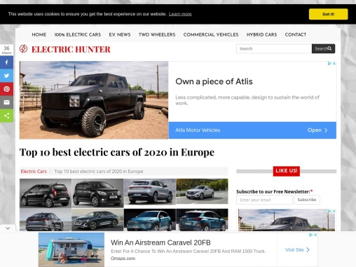 Top 10 best electric cars of 2020