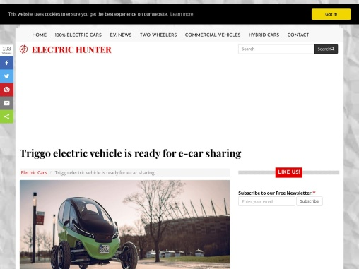 The new Triggo electric vehicle for e-car sharing