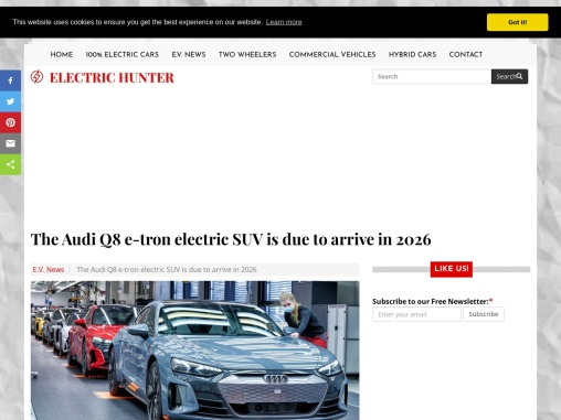 The new Audi Q8 e-tron electric SUV in Brussels