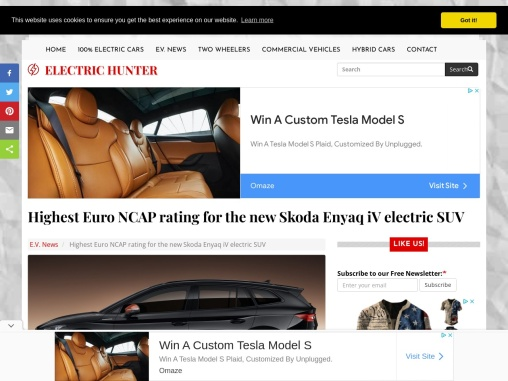 The new 2021 Skoda Enyaq iV electric SUV