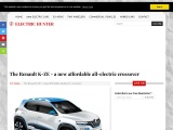 The Renault K-ZE is an all-electric city car
