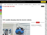 VW's charging robot for electric cars
