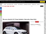 2021 Mercedes-Benz EQA electric crossover SUV