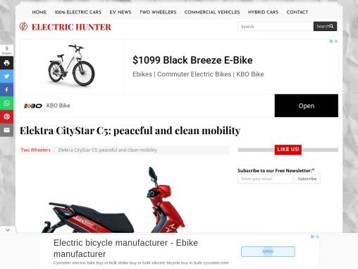 Elektra CityStar C5 electric scooter
