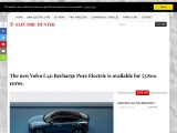 The new Volvo C40 Recharge electric car