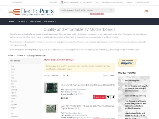 TV mother boards   ElectroParts