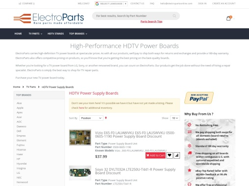 TV Power Supply | Electroparts