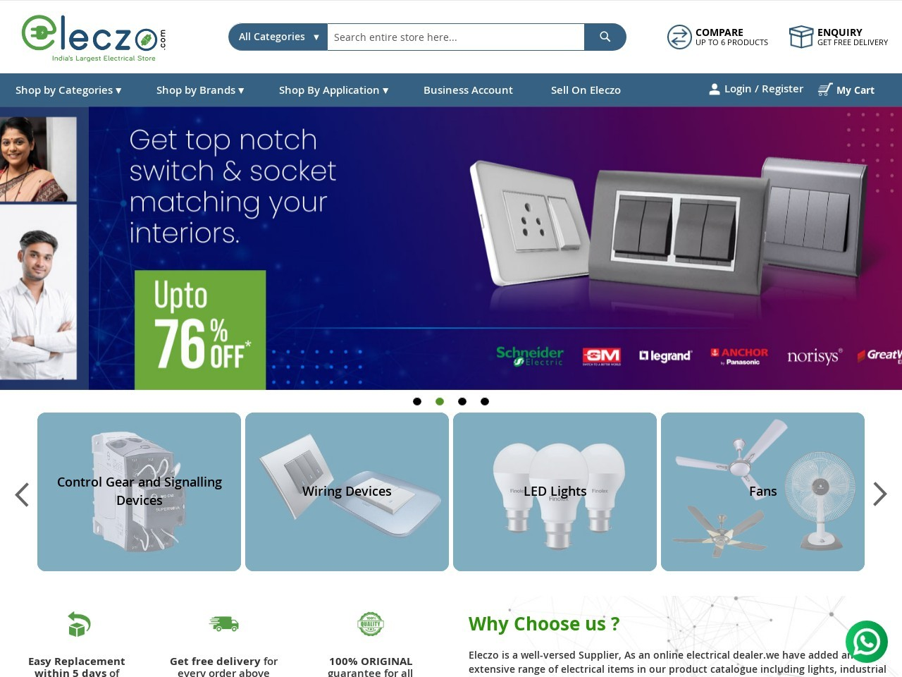 Buy Siemens 5SL64167RC 4 Pole 16 Amp MCB at Online |Eleczo.com