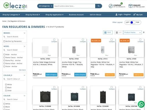 buy anchor fan regulators online