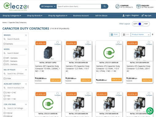 siemens capacitor duty contactors price list