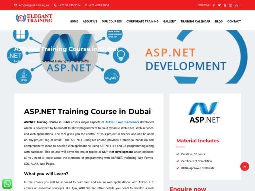 Dot Net Online Course   ASP .Net Web Development Course in Dubai   Elegant Training