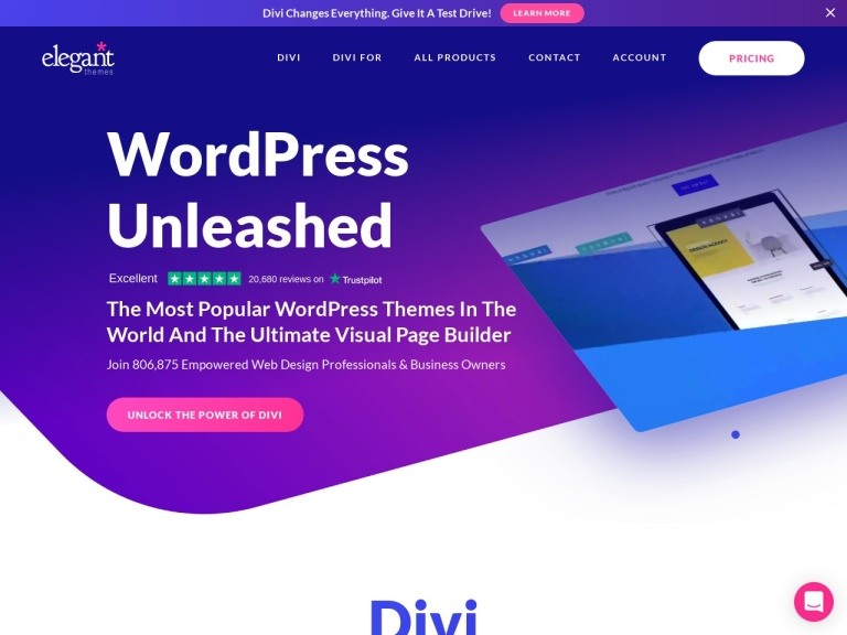 Divi Theme Coupon | Excellent Discount on Ultimate WordPress Theme screenshot