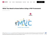 What You Need to Know before Using a PHP Framework