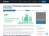 Call Center WhatsApp Integration and Its Role in Enterprises