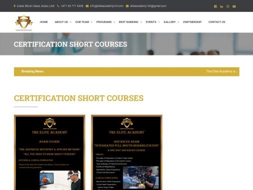 Dental Certificate Courses in Dubai | Dental  Courses in Dubai