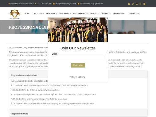 Professional Diploma In Endodontics | The Elite Academy