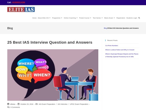 Best UPSC interview questions with Answers
