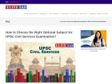 How to Choose the Right Optional Subject for UPSC Civil Services Examination