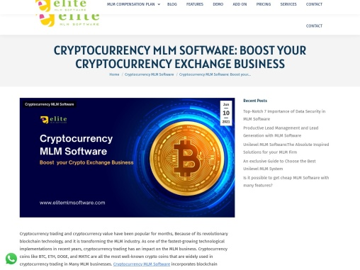 Cryptocurrency Trading in MLM Software: What You Should Know about Cryptocurrency and its Technology