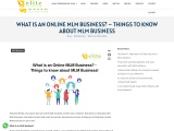 WHAT IS AN ONLINE MLM BUSINESS? – THINGS TO KNOW ABOUT MLM BUSINESS
