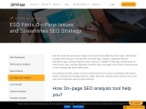 On Page SEO Analysis  – Check on page issues, competitor on page data, missing and duplicate issues