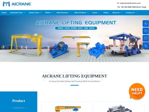 Cranes, winches, hoists and travel lifts