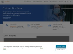 Elsevier Publishing screenshot