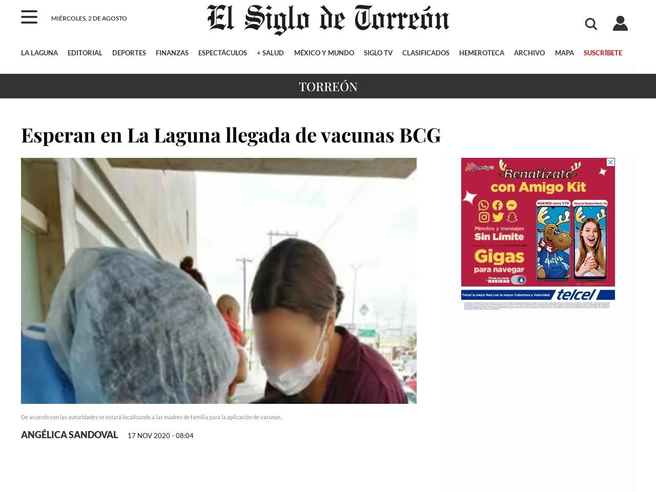 Esperan en La Laguna llegada de vacunas BCG