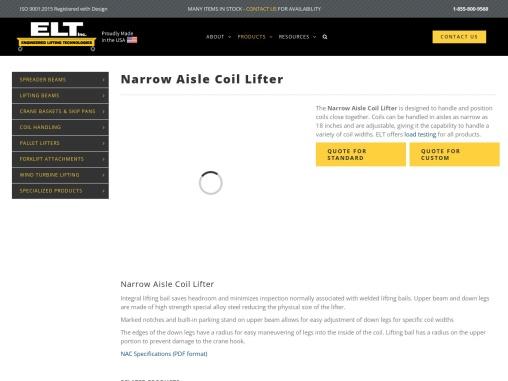 Narrow Aisle Coil Lifter – ELT Engineered Lifting Technologies