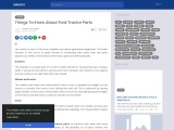 Things To Know About Ford Tractor Parts
