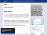How to Maintain Tractor Parts and Other Agriculture Tools