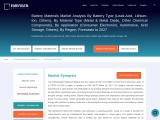 Battery Materials Market Outlook, Industry Demand and Supply,Forecast and Analysis Report 2027