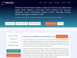 Electronic Health Records Market Research Report, Top Key Players, and Industry Statistics, 2020-202