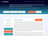 Global Non-Invasive Prenatal Testing  Survey, Analysis, Share, Company Profiles and Forecast by 2027