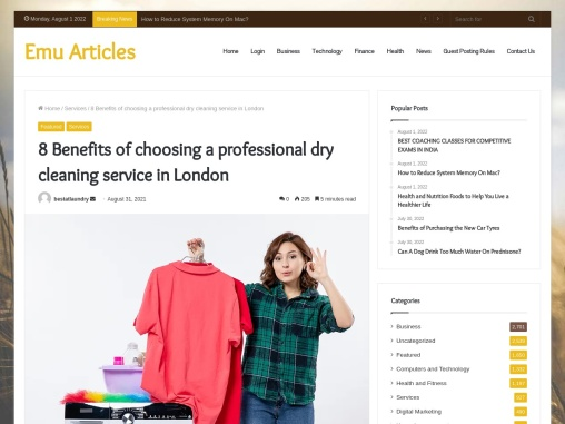 8 Benefits of choosing a professional dry cleaning service in London