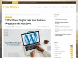 9 WordPress Plugins Take Your Business Website to the Next Level