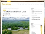 How is North taxes land for sale a great investment?