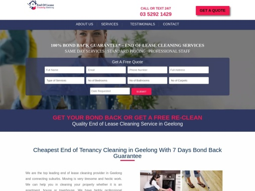 Bond Back End of Lease Cleaning Geelong