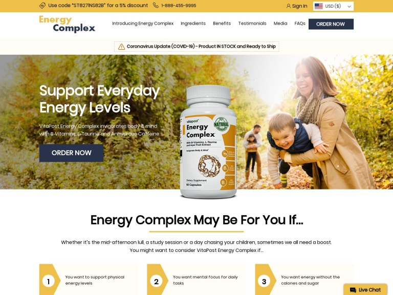 VitaPost Energy Complex screenshot