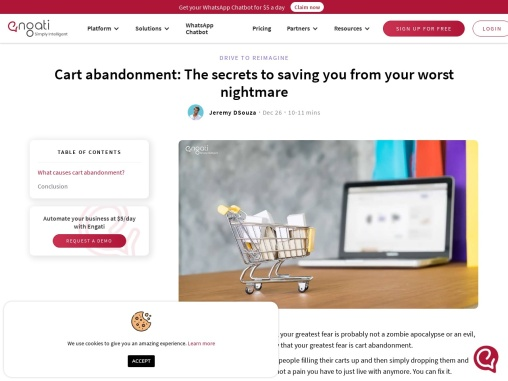 Cart abandonment – Here's how you solve it