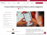 Customer engagement chatbot in banking