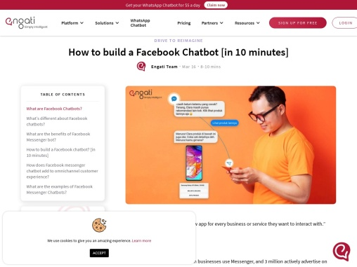 What are Facebook Messenger chatbots? How do you build and use them?