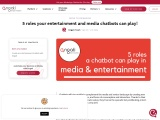 5 roles that chatbots are amazing at playing in media & entertainment