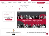Top 20 influencers revolutionizing the eCommerce industry